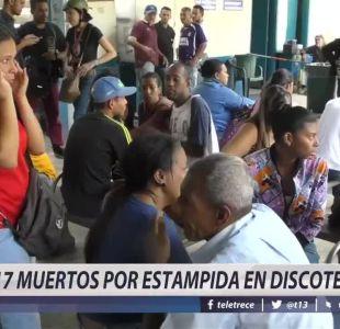 [VIDEO] 17 muertos por estampida en discoteque en Venezuela