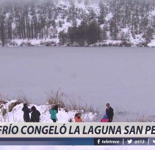 [VIDEO] Frío congela laguna en Lonquimay
