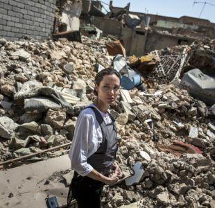 [FOTOS] Angelina Jolie visita el norte de Irak: Son las peores destrucciones que jamás haya visto