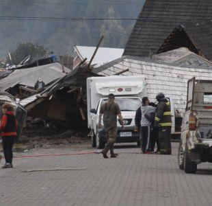 [VIDEO] Vecinos de Villa Santa Lucía se niegan a evacuar