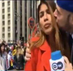 [VIDEO] Hincha ruso que acosó a reportera colombiana se disculpa