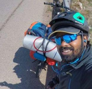 Mundial 2018: el hombre que viajó en bicicleta desde Irán hasta Rusia para conocer a Messi