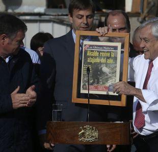 El gracioso regalo del alcalde de Puente Alto al Presidente Piñera