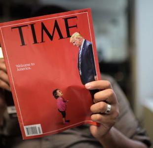 [VIDEO] Donald Trump en picada con polémica portada de revista Time