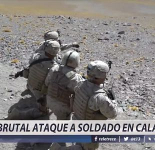 [VIDEO] Brutal ataque a soldado en Calama