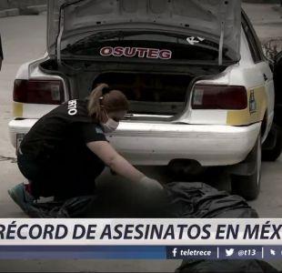 [VIDEO] Récord de asesinatos en México