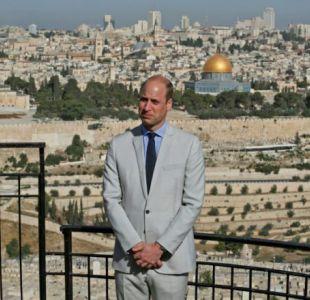 Príncipe William visita la Explanada de las Mezquitas en Jerusalén