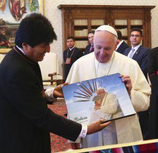 [VIDEO] Papa Francisco se reúne con Evo Morales y lo llama a trabajar por la paz y solidaridad