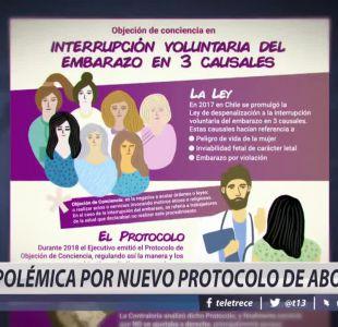 [VIDEO] Polémica por nuevo protocolo de aborto