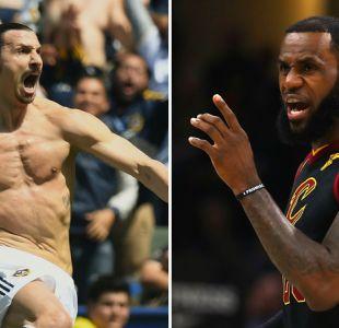 La bienvenida de Zlatan Ibrahimovic a LeBron James tras fichar por Los Angeles Lakers
