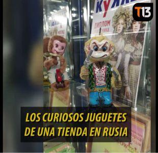 [VIDEO] T13 en Rusia: Los curiosos juguetes de una tienda en Moscú