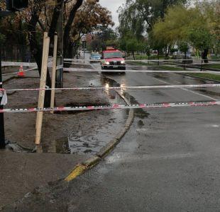 Sumario contra Aguas Andinas por socavón en San Bernard