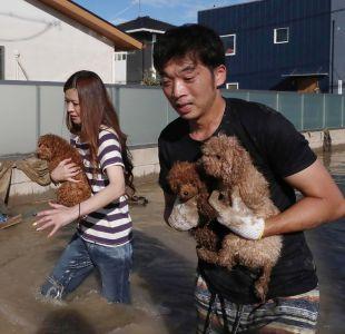 Las devastadoras imágenes de las lluvias que dejan al menos 100 muertos en Japón