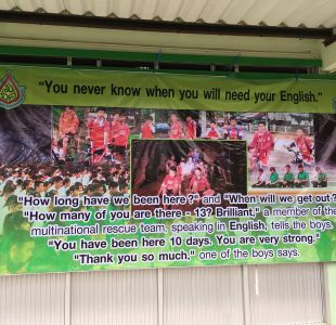 [FOTO] La historia detrás del lienzo creado por la escuela de los niños rescatados en Tailandia