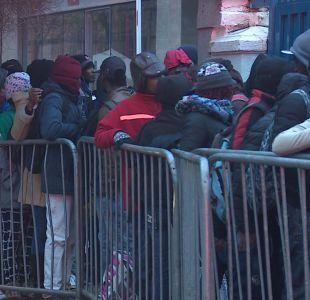 [VIDEO] Largas filas de haitianos por certificado de antecedentes