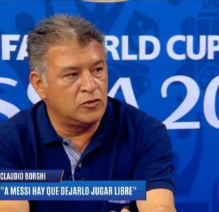 [VIDEO] Claudio Borghi y su error en pantalla al criticar de Sampaoli