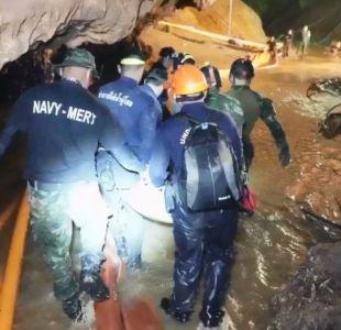 [VIDEO] Revelan imágenes del operativo de rescate de niños y su entrenador en Tailandia
