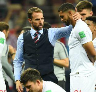 """[VIDEO] Southgate anima a sus jugadores tras derrota ante Croacia: """"El país está muy orgulloso"""""""