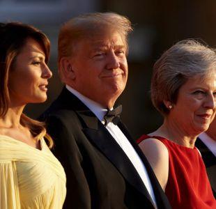 Trump enciende su visita en Reino Unido con elogios a opositor de May y cuestiona acuerdo comercial