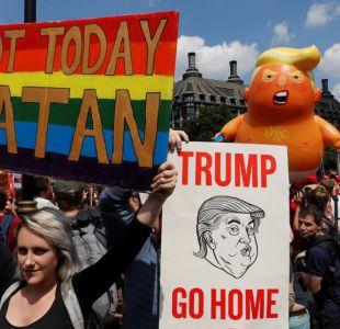 [FOTOS] Las imágenes que dejó la multitudinaria protesta contra Trump en el Reino Unido