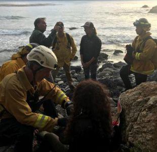 Mujer sobrevive siete días entre los escombros de su auto tras accidente