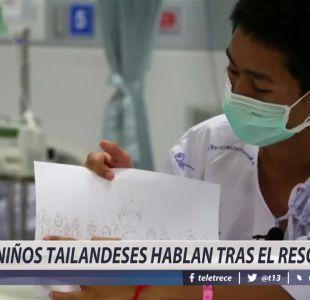 [VIDEO] Niños tailandeses hablan tras el rescate