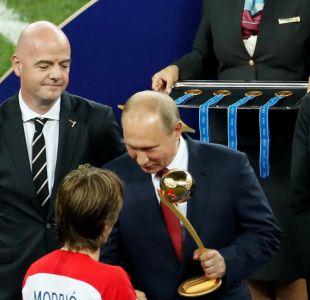 La imagen que llamó la atención durante la premiación de la final de Rusia 2018