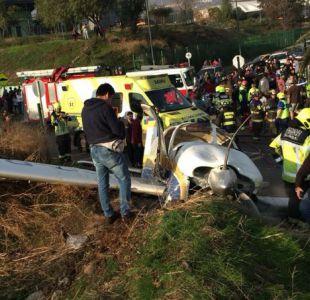 Fallece mujer que resultó herida en caída de avioneta particular en Peñalolén