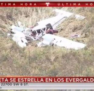 Choque de avionetas dejó cuatro muertos al oeste de Miami
