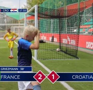 [VIDEO] La recreación de la final del Mundial hecha por niños que se convirtió en viral
