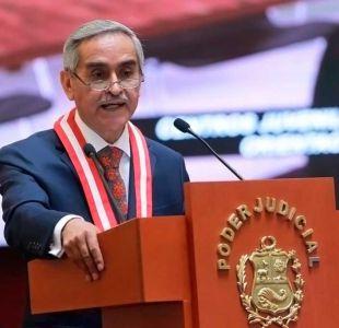 Presidente de la Corte Suprema peruana renuncia tras escándalo por venta de sentencias