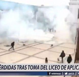 [VIDEO] Pérdidas tras toma del Liceo de Aplicación
