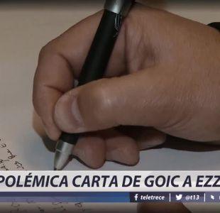 [VIDEO] Polémica carta de Goic a Ezzati