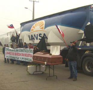[VIDEO] Así se vivió en Linares el cierre de la planta de Iansa