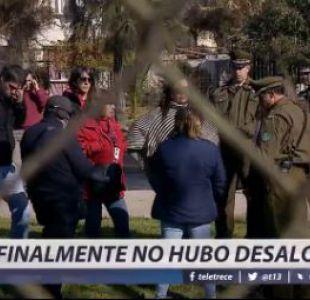 [VIDEO] Finalmente no hubo desalojo en toma de la comuna de Ñuñoa