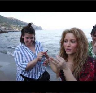 """Shakira muestra cómo se grabó el video de la canción """"Clandestino"""", con un curioso detalle"""
