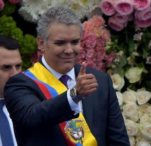 Iván Duque lanza velada advertencia a Maduro al asumir presidencia de Colombia