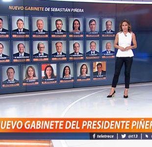[VIDEO] Constanza Santa María explica cómo quedó el gabinete del Presidente Piñera