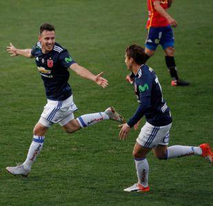 La U se recupera y golea a Unión Española en un gran re debut de Ángelo Henríquez