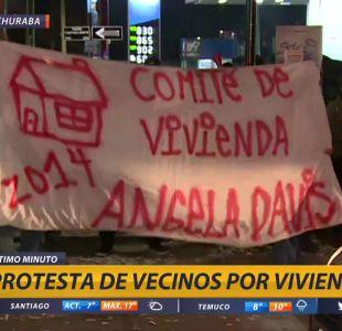 [VIDEO] Vecinos protestan en Huechuraba por viviendas