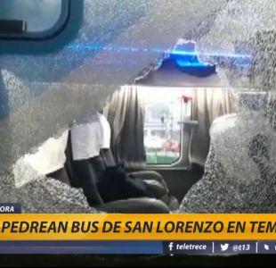[VIDEO] Bus de San Lorenzo fue apedreado en su llegada a Temuco
