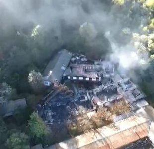 [VIDEO] Así quedó el hogar Santa Marta de Chiguayante tras trágico incendio