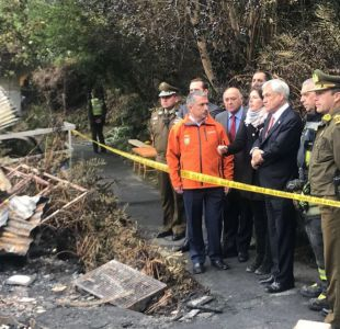 [VIDEO] Incendio en Chiguayante: Piñera dice que reforma a pensiones hará énfasis en adultos mayores