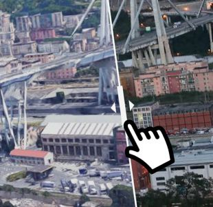 [Interactivo] El antes y el después del puente que colapsó en Génova