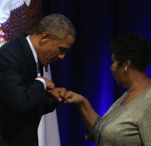 [VIDEO] El homenaje de Barack Obama a Aretha Franklin, la artista que lo hizo llorar