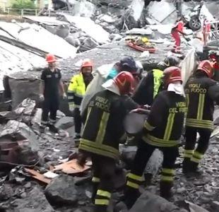 [VIDEO] Entregan cuerpos de chilenos muertos en caída de puente de Génova