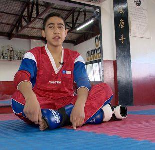 [VIDEO] #LaBuenaNoticia: La lucha de Martín por llegar al mundial de Kick boxing