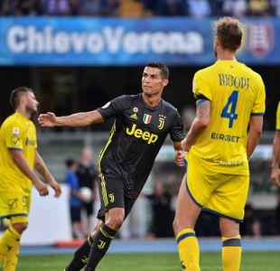 Juventus gana al Chievo Verona en el debut de Cristiano Ronaldo en la Serie A