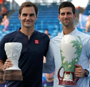[VIDEO] La broma de Novak Djokovic a Roger Federer tras la final de Cincinnati