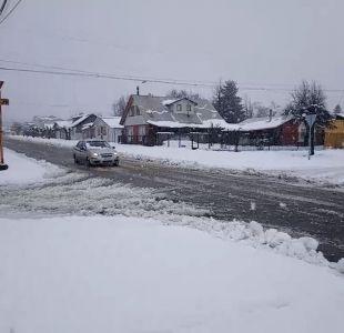 [VIDEO] Reportan caída de agua nieve en sectores precordilleranos